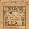 Carte Michelin France N°21 - 1914 -