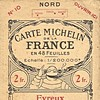 Carte Michelin France N°10 - 1921 -