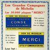 Les plaques Michelin - 1920